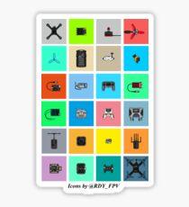 FPV Icons Sticker