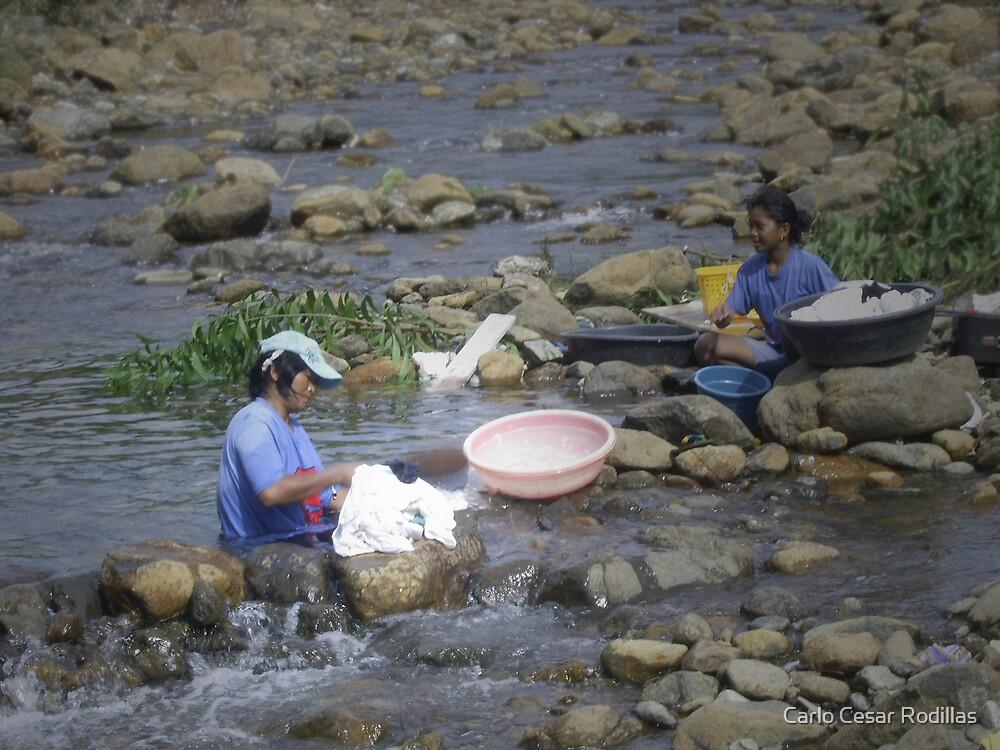 Blue Women Washing by Carlo Cesar Rodillas