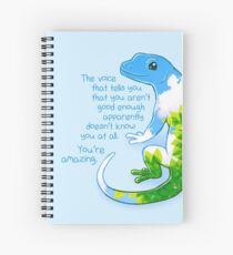 """You're Amazing"" Summer Leaves Gecko Spiral Notebook"