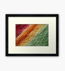 Gradient Knitted Fabric Framed Print