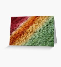 Gradient Knitted Fabric Greeting Card