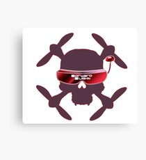 FPV Skull and Goggles Canvas Print
