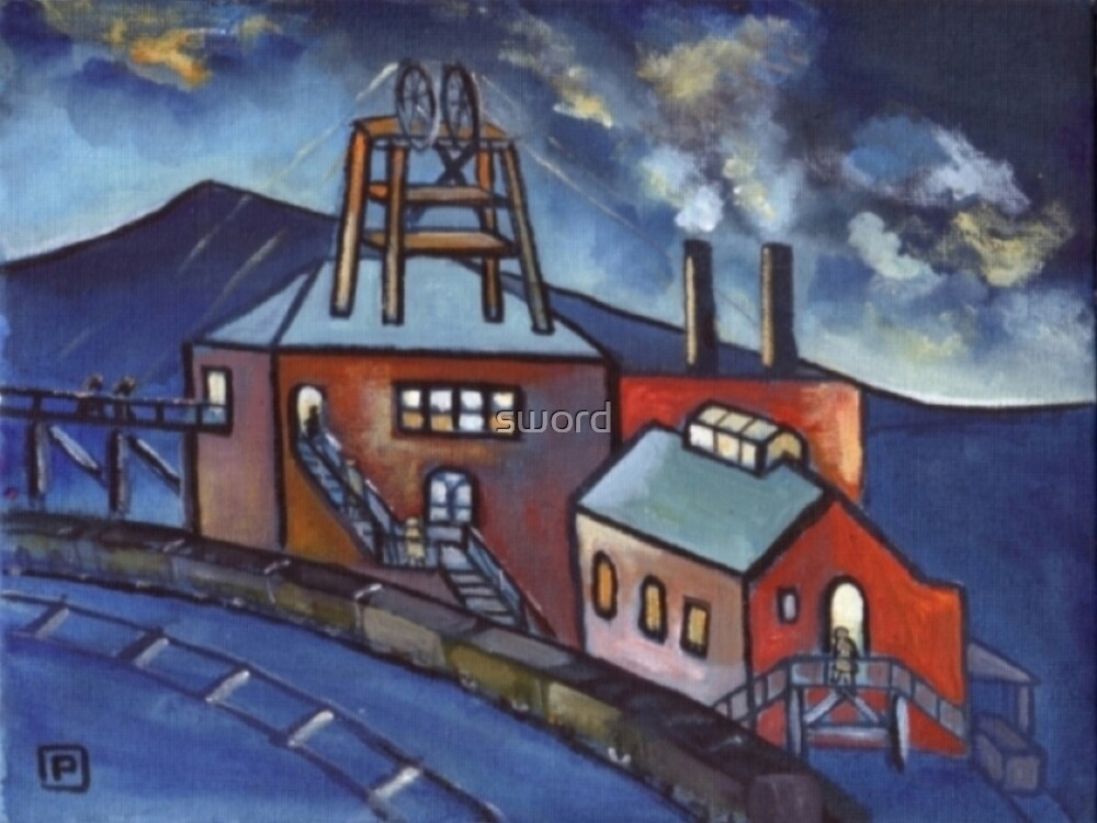 Durham main colliery  by sword