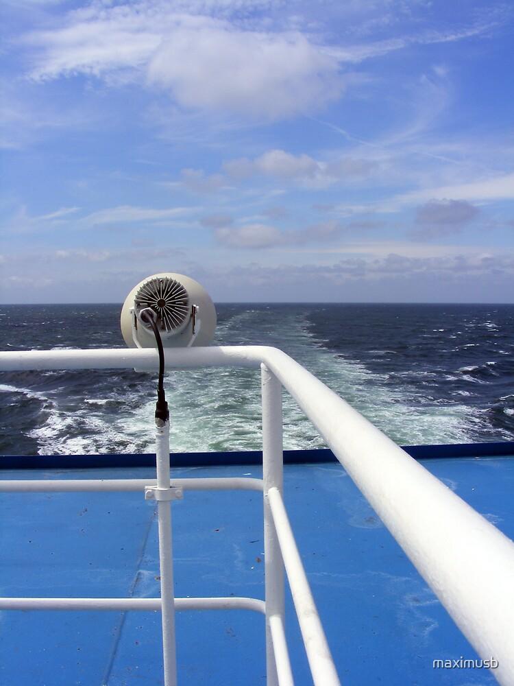 white bars, blue sea by maximusb