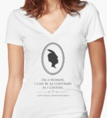 Downton Abbey Contrary Woman Women's Fitted V-Neck T-Shirt