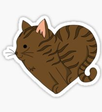 Heart Tabby Cat Sticker