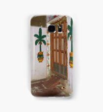 Doorkeepers Wall Painting Varanasi Samsung Galaxy Case/Skin
