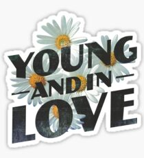 Young Flower Typography Sticker