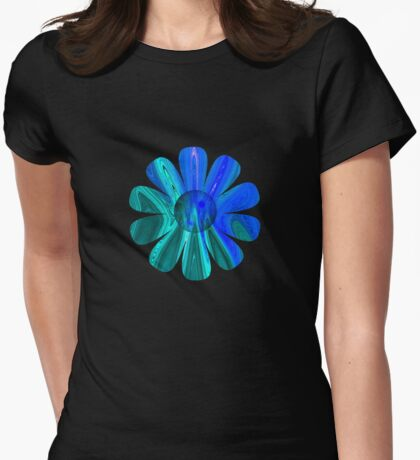 Blue Abstract Flower T-Shirt