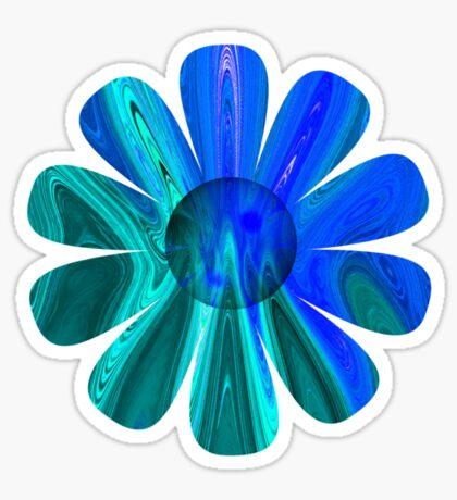 Blue Abstract Flower Sticker