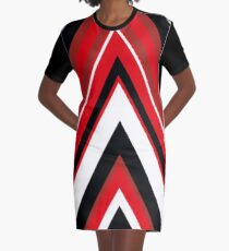 Moving On Up Red Graphic T-Shirt Dress