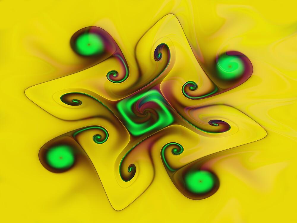 Yellow Gnarl by Vicky Brago-Mitchell