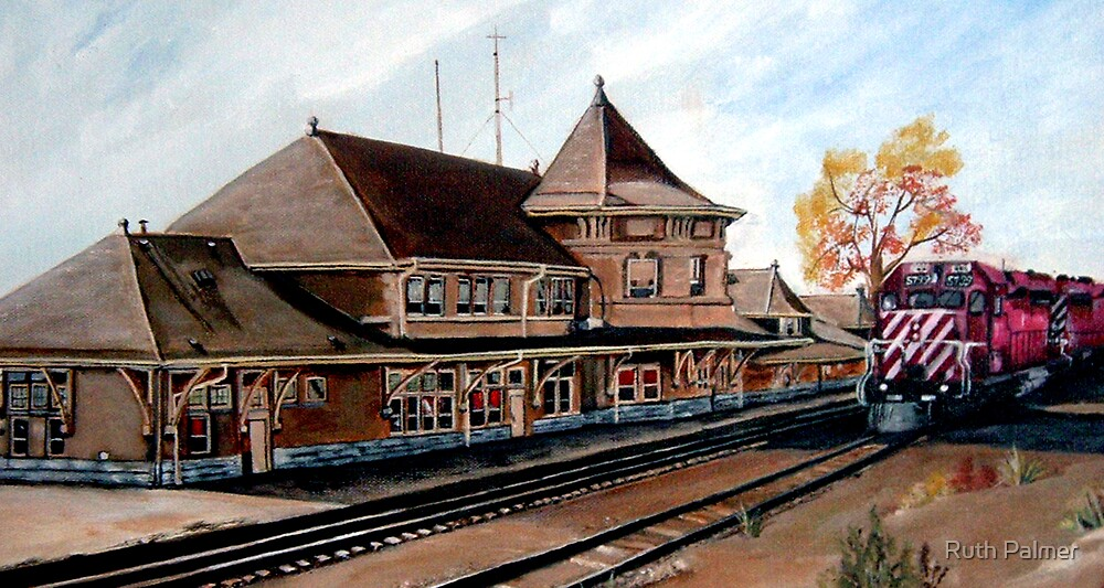 Saskatoon Train Station by Ruth Palmer