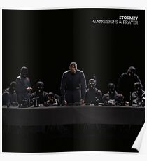 Stormzy Gang signs and prayer Poster