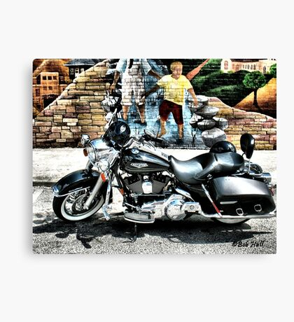 """MURAL BOY WANTS A RIDE""... prints and products Canvas Print"