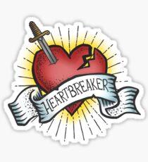 Heartbreaker Vintage Tattoo Design Sticker