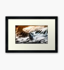 Split Storm Framed Print