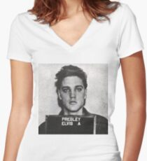 ELVIS Women's Fitted V-Neck T-Shirt