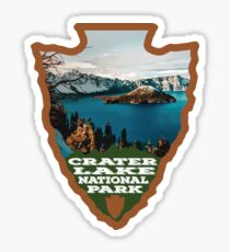 Crater Lake National Park arrowhead Sticker