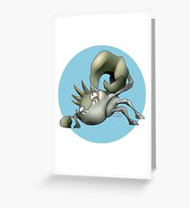 099 - Shiny Pincer Monster Greeting Card