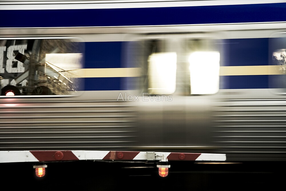 Train goes by by Alex Evans