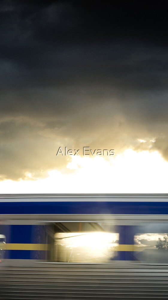 Train goes by II by Alex Evans