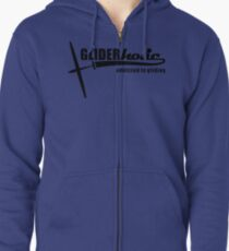 addicted to gliding Zipped Hoodie
