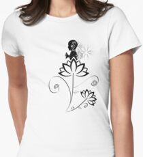 Magic Flower Fairy Womens Fitted T-Shirt