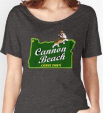Cannon Beach - Corgi Town Women's Relaxed Fit T-Shirt