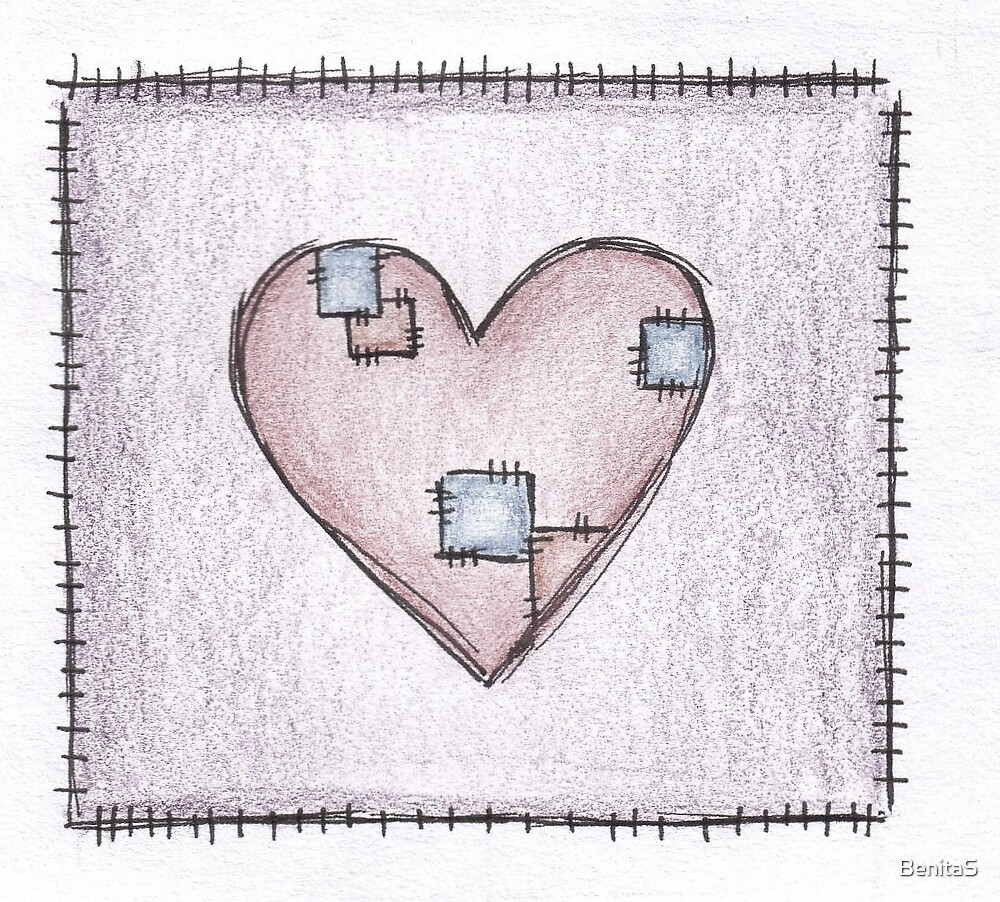 Patched Heart by BenitaS