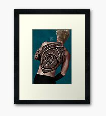 give your back to me - tattoo version  Framed Print