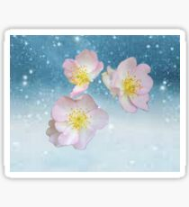 Flower in the Snow Sticker