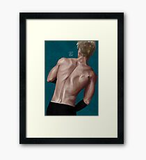 give your back to me - no tattoo Framed Print