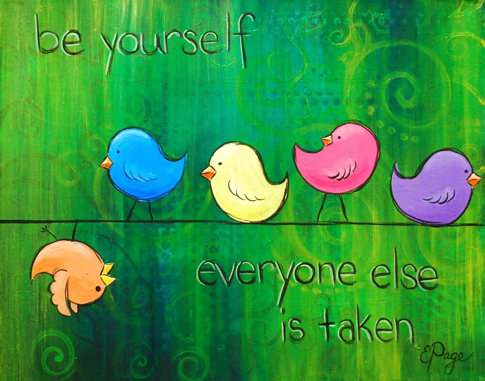 Be Yourself - Birds by emilypageart