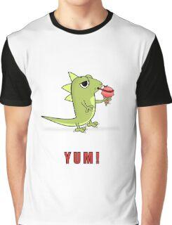 Lizard Licks Ice Cream Cone Graphic T-Shirt