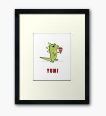 Lizard Licks Ice Cream Cone Framed Print