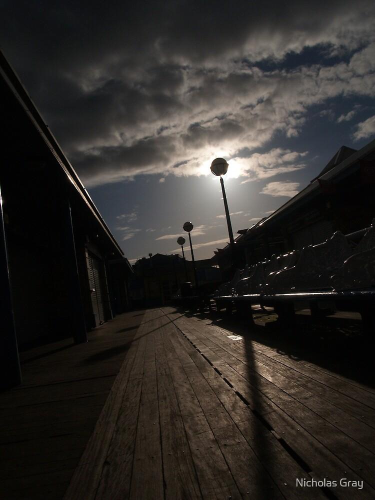 Pier Shadow by Nicholas Gray