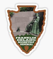 Franklin Delano Roosevelt Memorial arrowhead Sticker