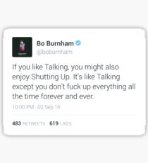 Bo Burnham Tweet Sticker