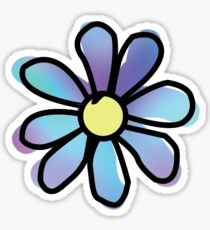 Multi Color Daisy Flower Sticker