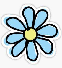 Bright Blue Flower Sticker