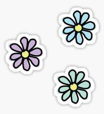 Flower - 3 Pack Blue Purple Aqua Sticker