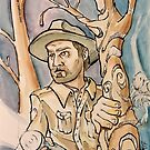 Chief Hopper from Stranger Things by Byron  McBride
