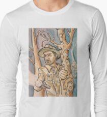 Chief Hopper from Stranger Things Long Sleeve T-Shirt