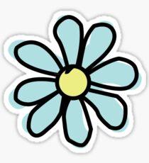 Aqua Flower Sticker