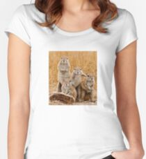 Squirrel Album Cover Women's Fitted Scoop T-Shirt