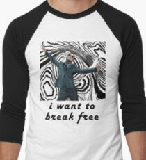 MORIARTY BREAK FREE - NOT FOR DARK CLOTHING Men's Baseball ¾ T-Shirt