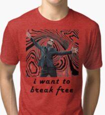 MORIARTY BREAK FREE - NOT FOR DARK CLOTHING Tri-blend T-Shirt