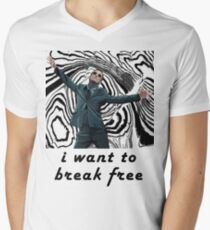 MORIARTY BREAK FREE - NOT FOR DARK CLOTHING Men's V-Neck T-Shirt