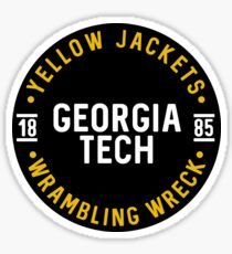 Georgia Tech - Style 25 Sticker